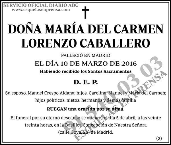 María del Carmen Lorenzo Caballero